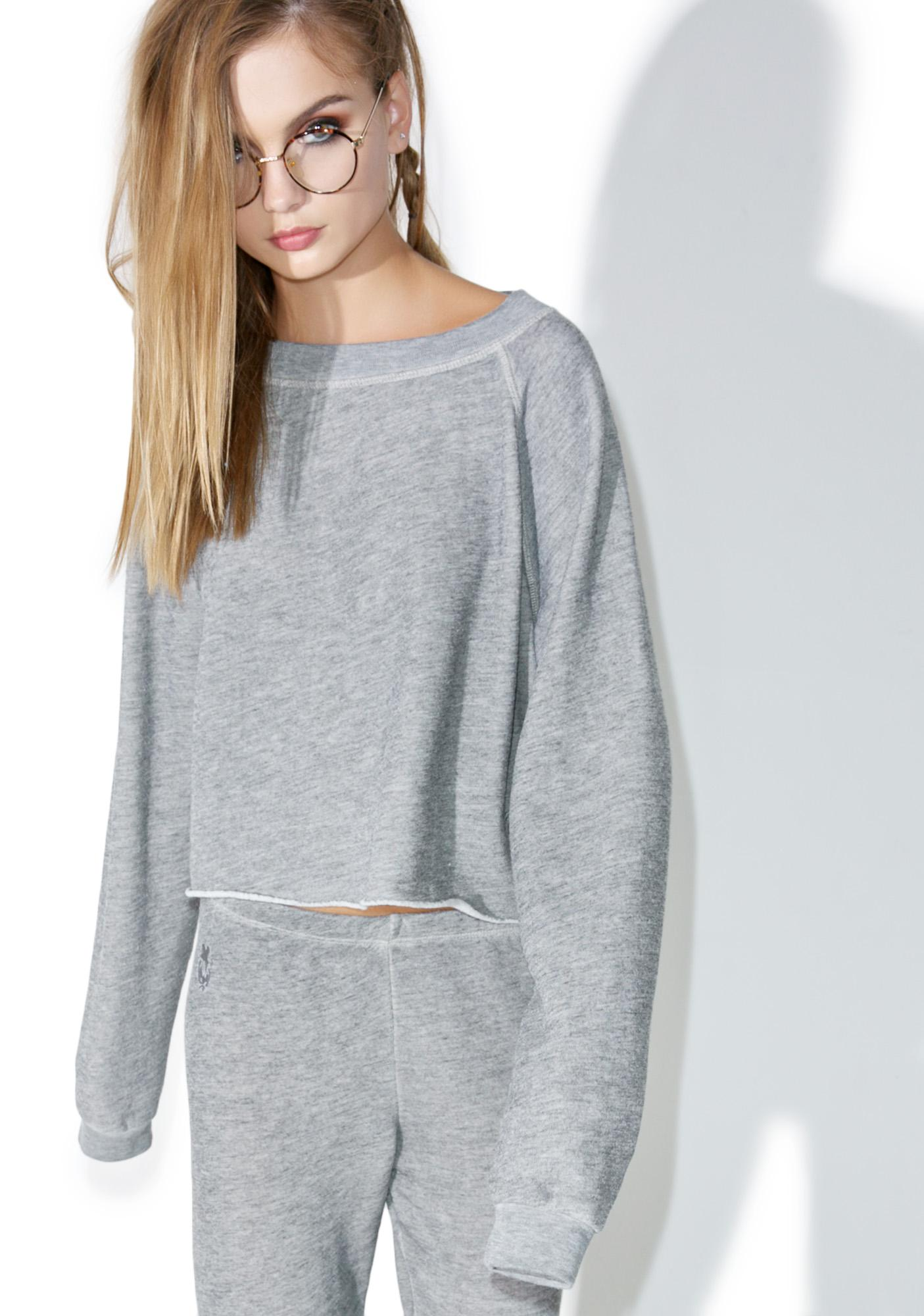 Wildfox Couture Monte Crop Sweatshirt