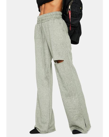 Cat Scratch Club Distressed Sweatpants