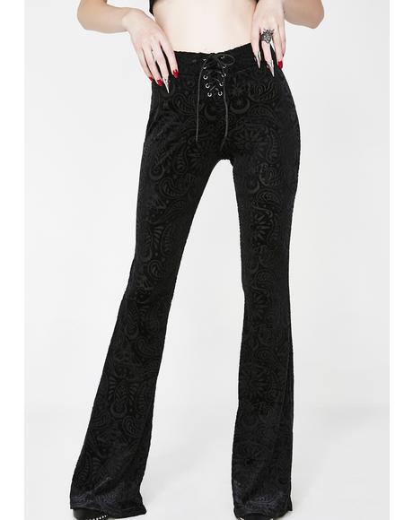 Bellatrix Burnout Velvet Bell Bottoms