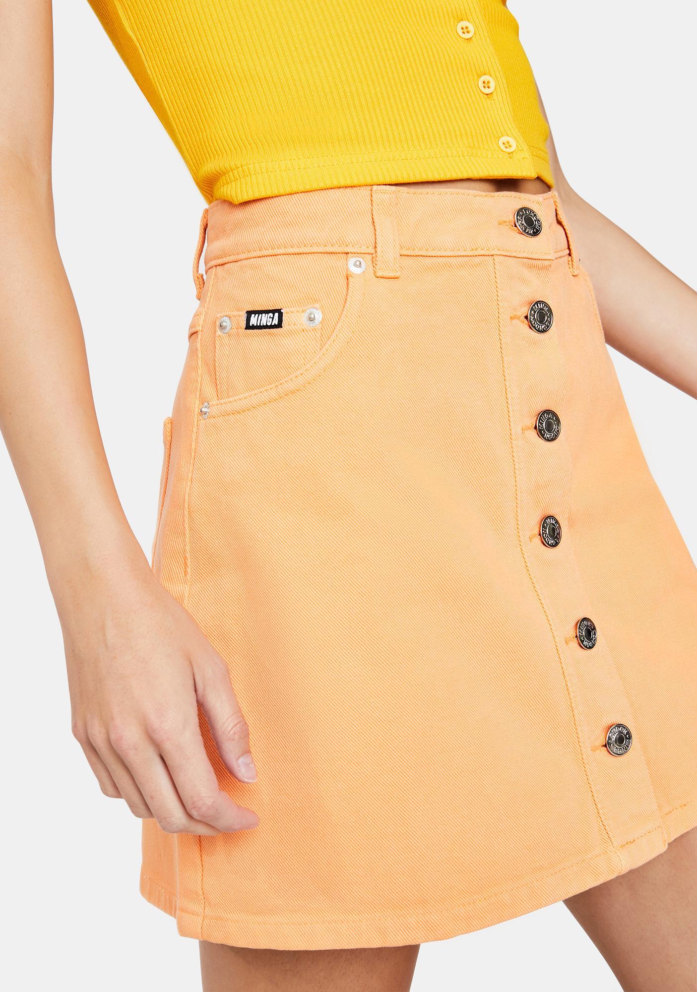 Minga Tangerine Denim Mini Skirt