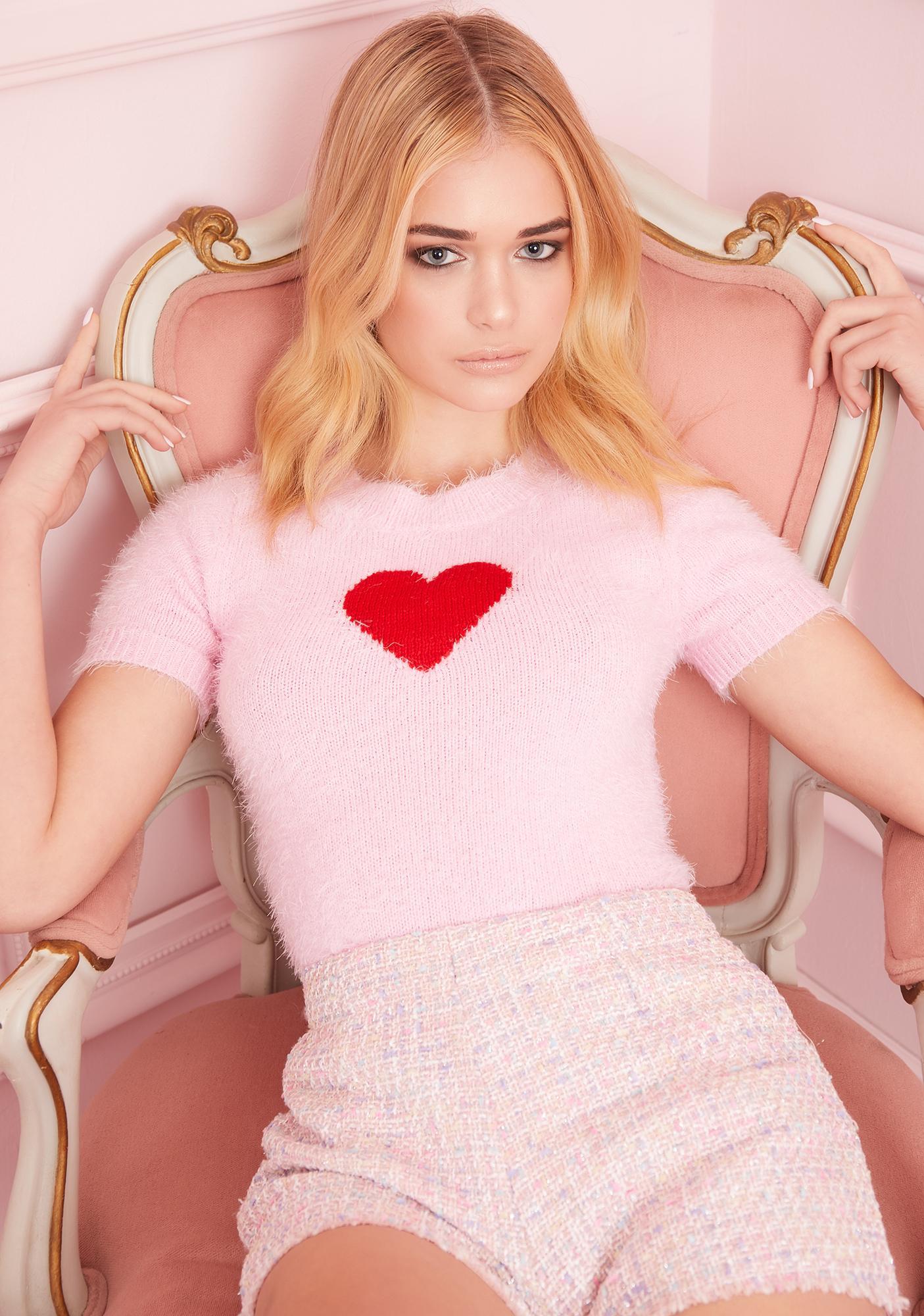 Sugar Thrillz Love Letters Heart Sweater