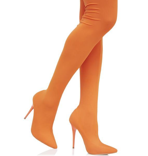 Sunset Sugar Spun Thigh-High Boots