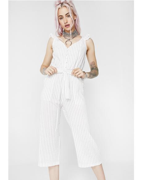 Unprofessional Striped Jumpsuit