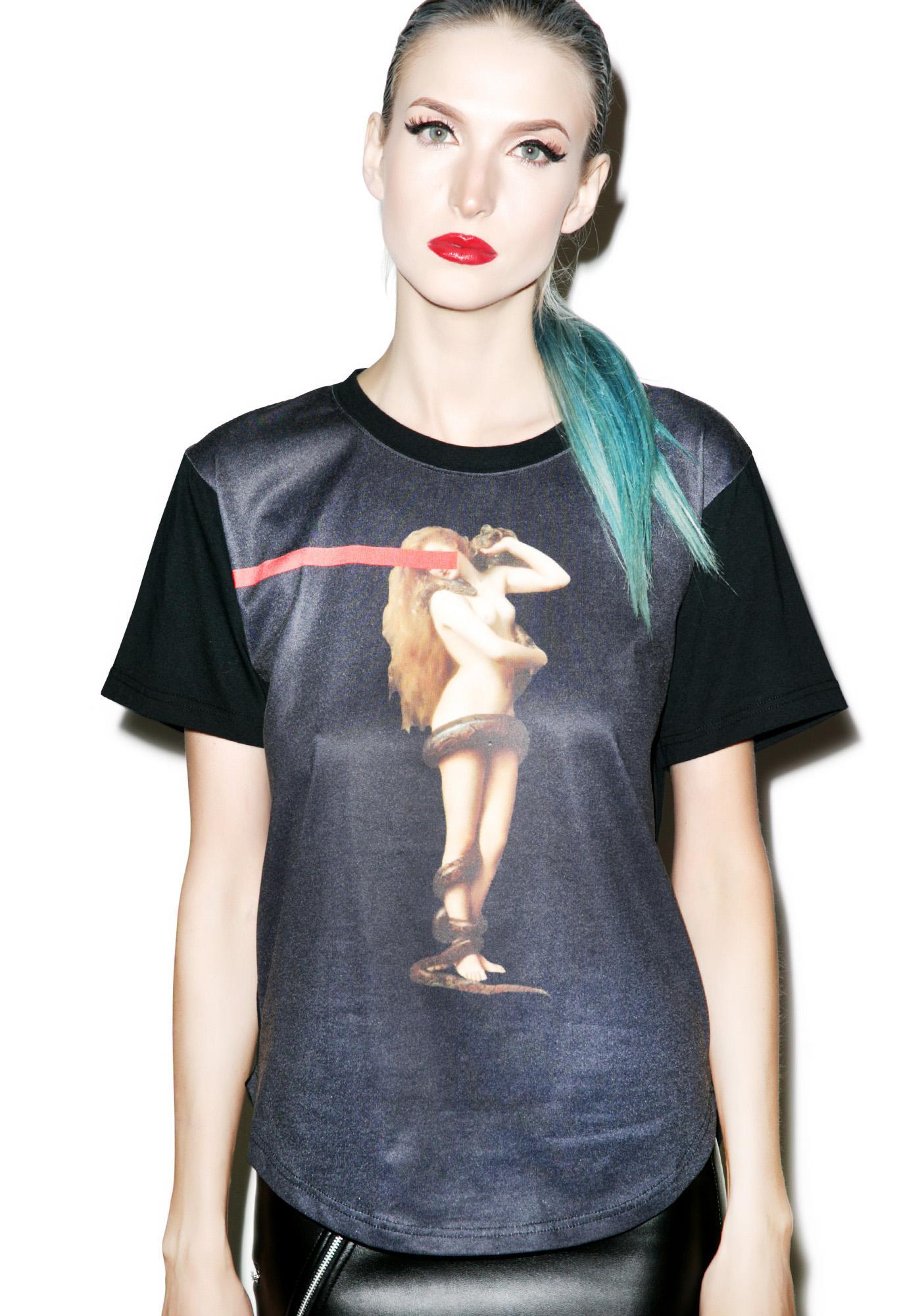 Black Scale Eve's Rib T-Shirt