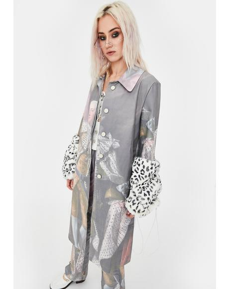 George III Print Trench Coat