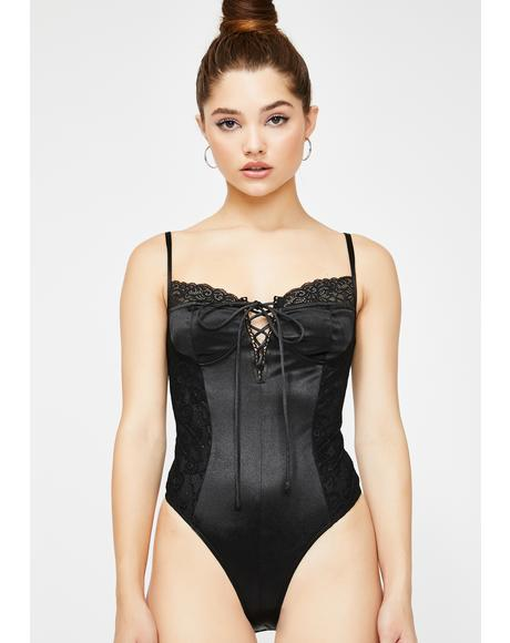 Anja Lace-Up Bodysuit