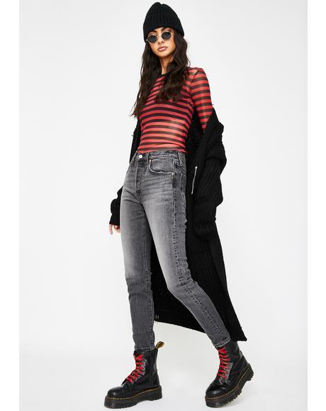 Coal Black 501 Skinny Jeans