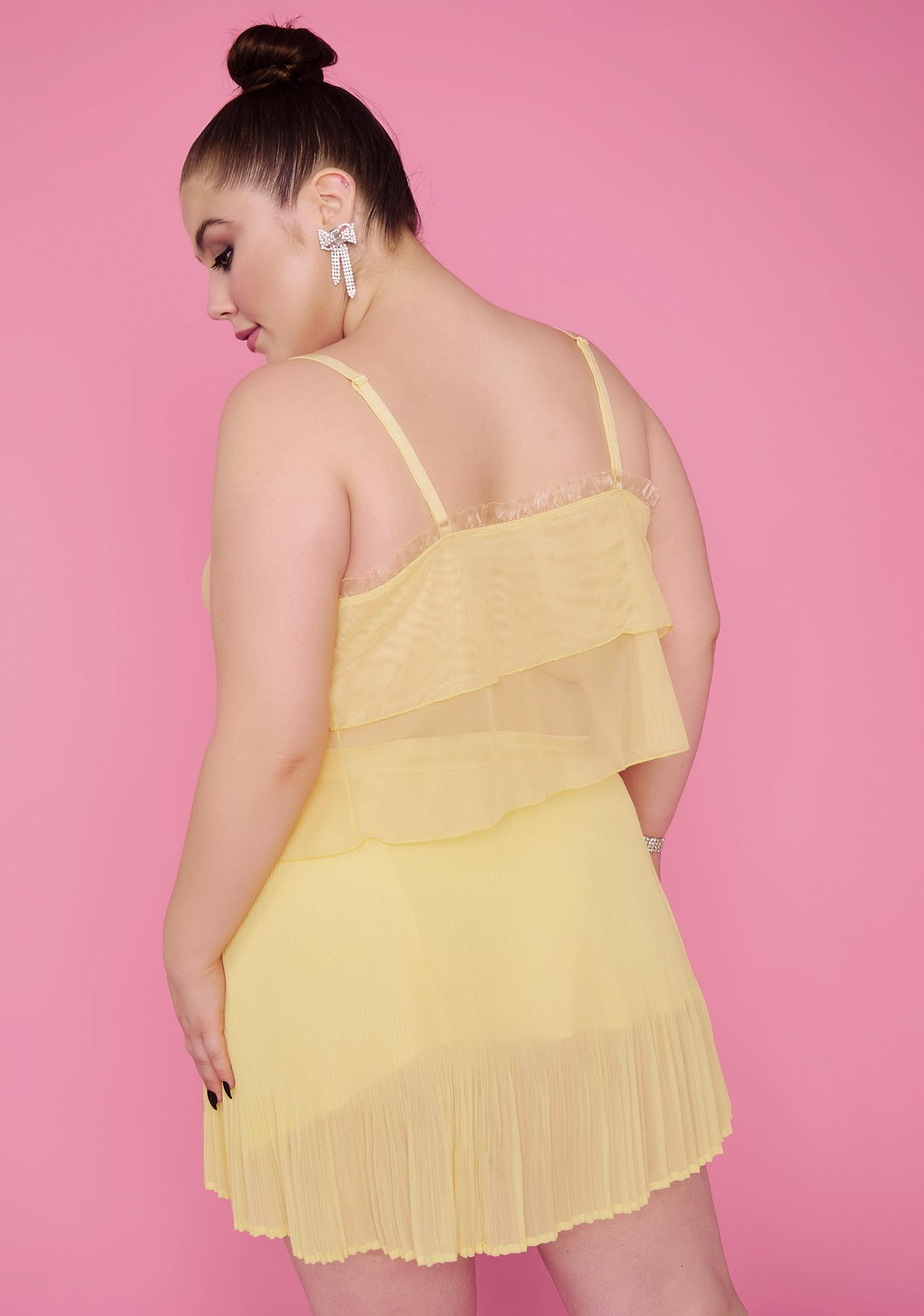 Sugar Thrillz Her Honeymoon Avenue Chiffon Skirt
