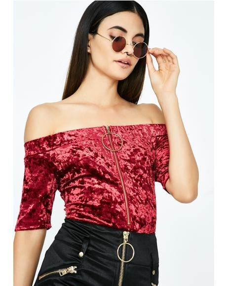 Red Velvet Bodysuit