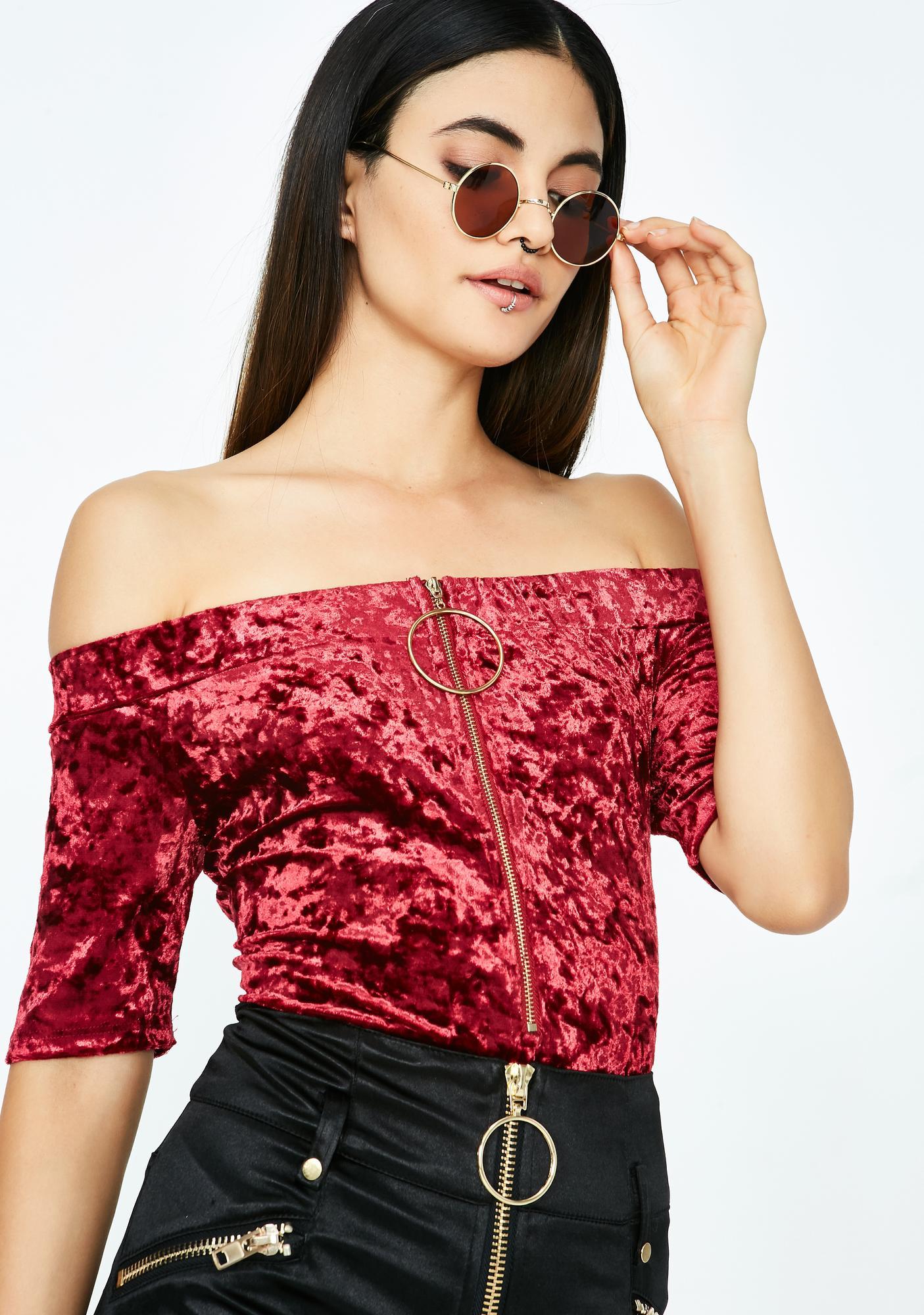 Red Velvet Bodysuit