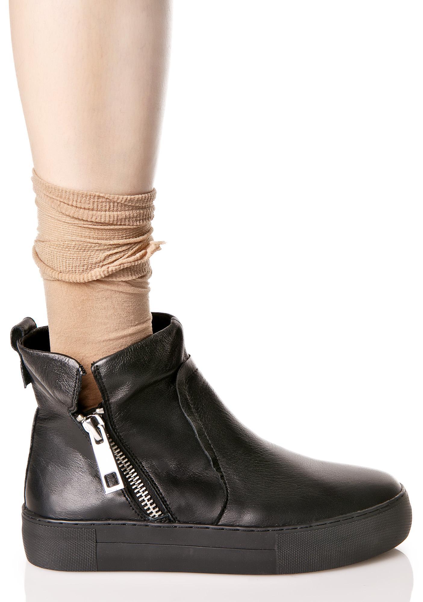 J Slides Astin Zip Up Flat Booties