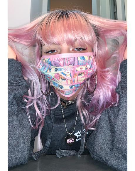 Comic Scene Cutie Face Mask