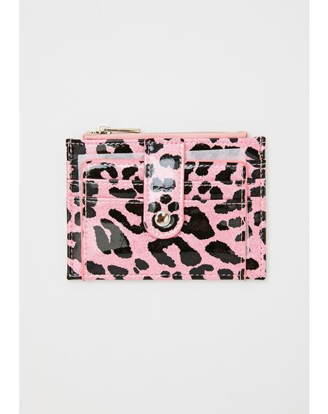 Pink Leopard Daisy Wallet