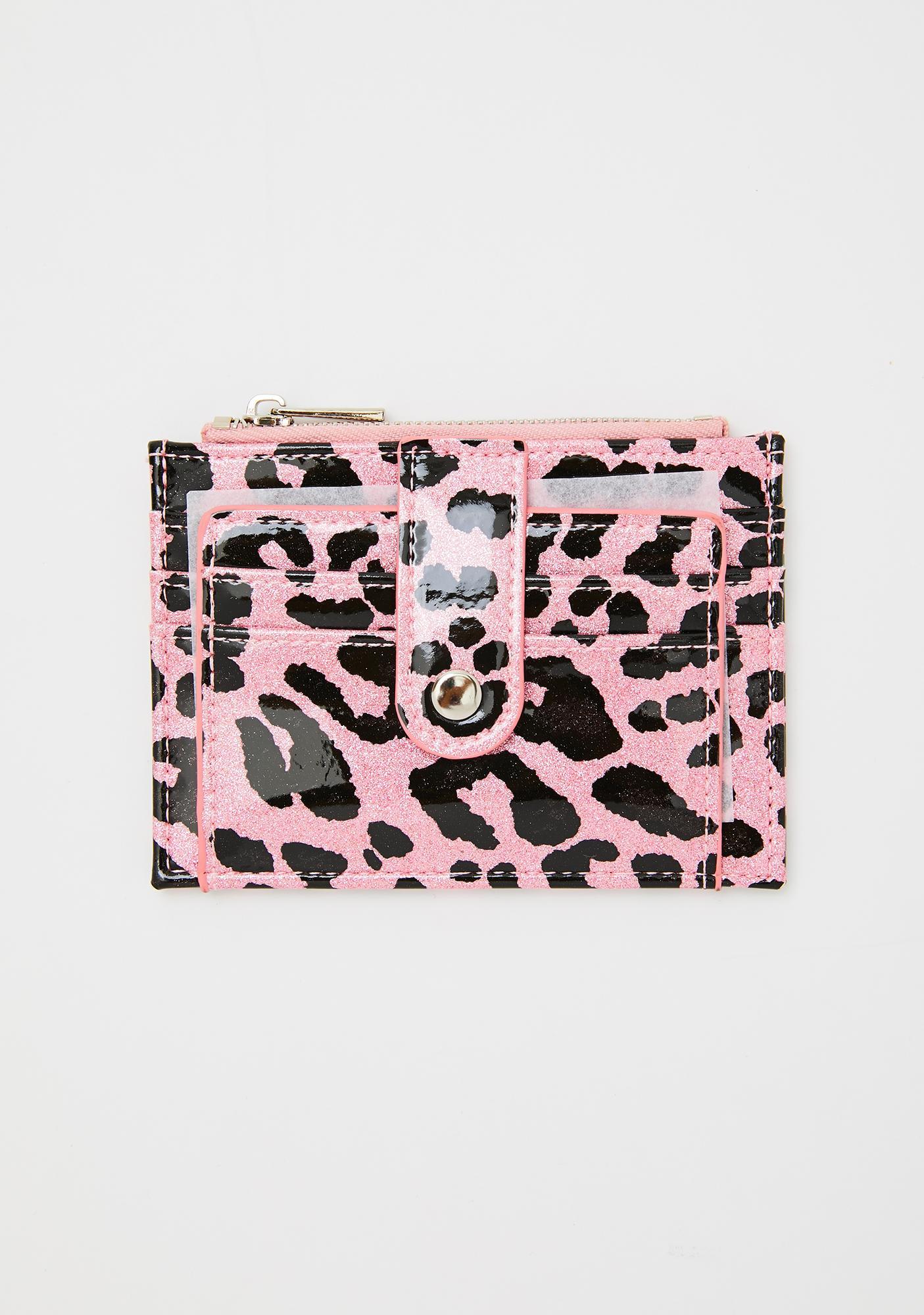 Georgia Mae Pink Leopard Daisy Wallet