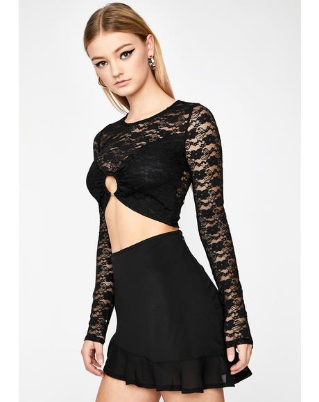 Hot Touch Lace Top