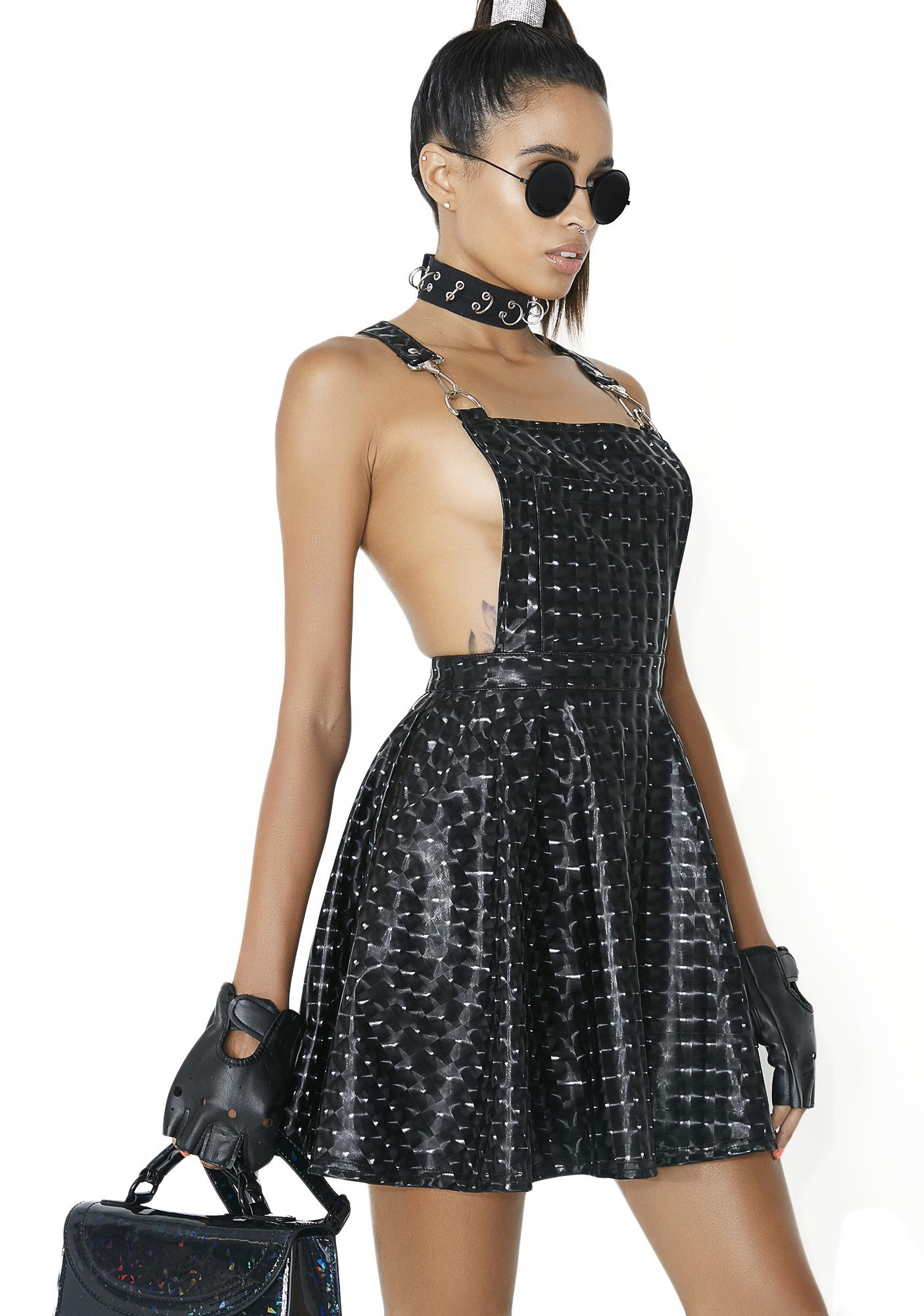 Club Exx Dark Hyperion Hologram Overall Dress