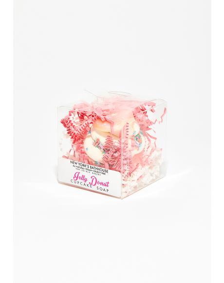 Jelly Donut Cupcake Soap