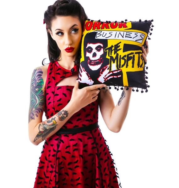 Sourpuss Clothing Misfits Horror Business Pillow