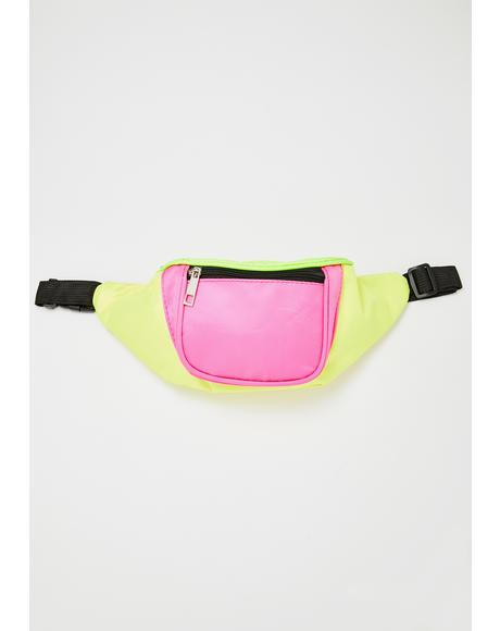 Totally Rad Colorblock Fanny Pack