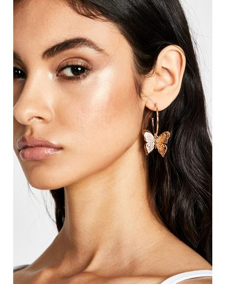 Gold Glamour Garden Drop Earrings