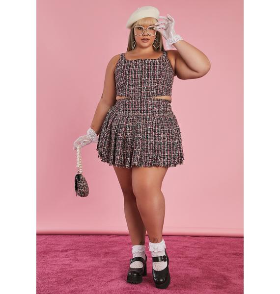 Sugar Thrillz Oh Pish Posh Tweed Skirt