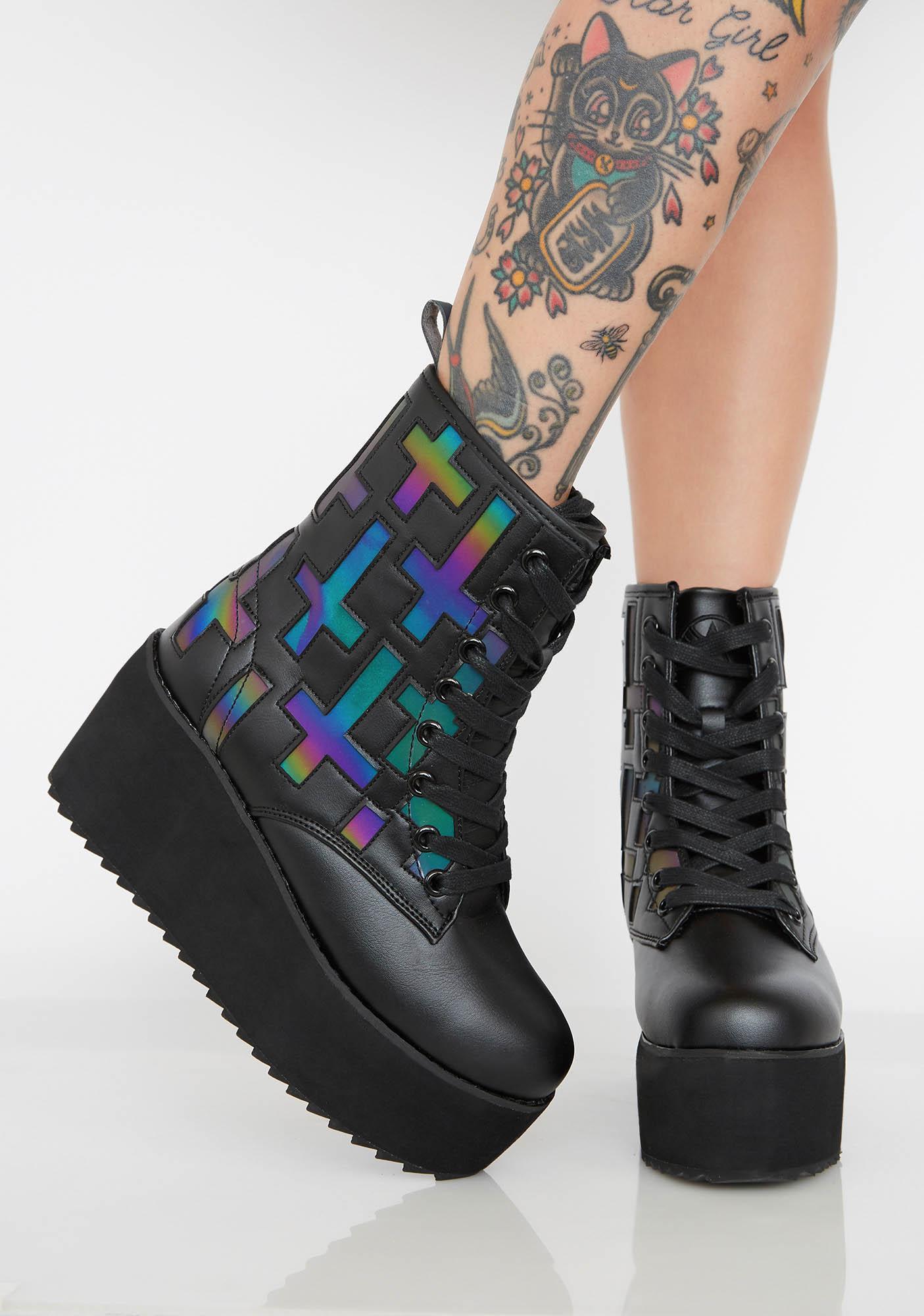 Strange Cvlt Reflective Stomp Cross Boots