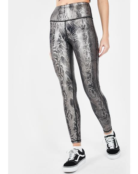 Twisted Temptation Metallic Leggings