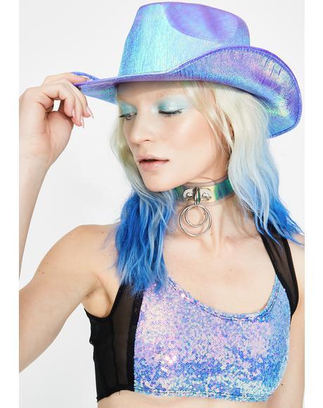Metallic Purple Cowboy Hat