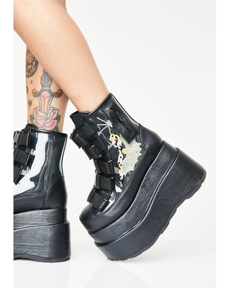 Batty Behavior Platform Boots