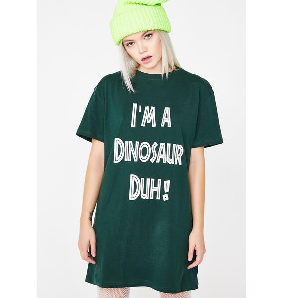 Dolls Kill I'm A Dinosaur Graphic Tee