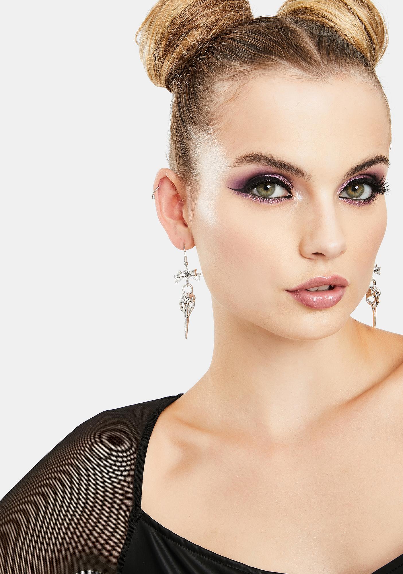 Deadly Beauty Skull Earrings