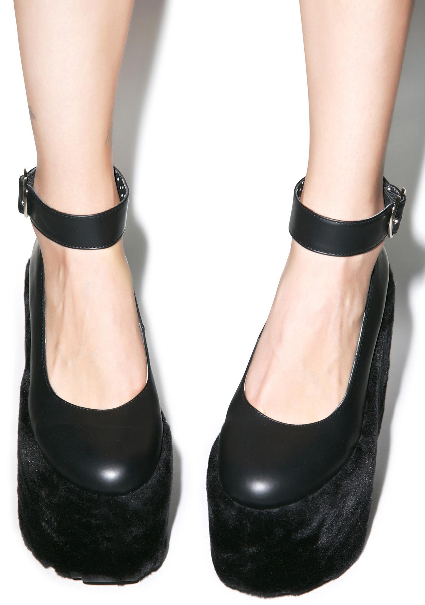 Sugar Thrillz Faux Real Midnight Mary Jane Platforms