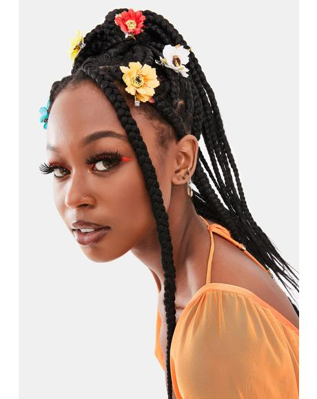 Sunflower Power Five Piece Hair Clip Set