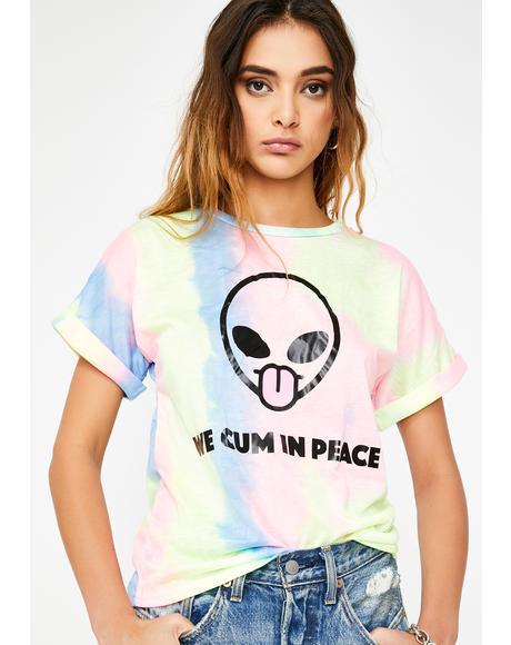 We Cum In Peace Tie Dye Tee