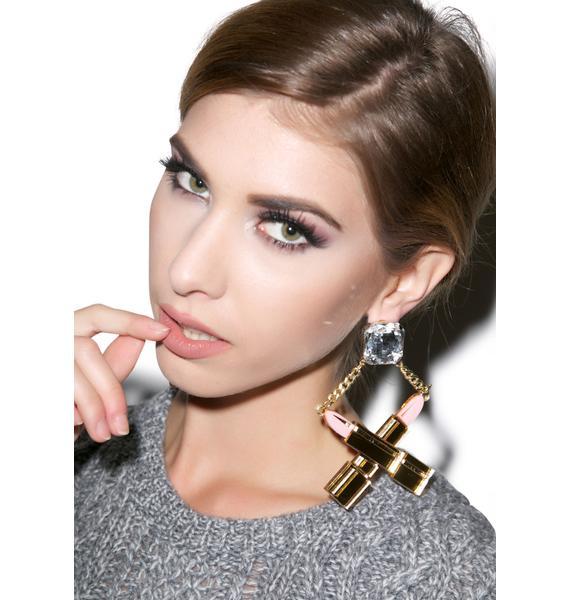 Killah Lipstick Earrings