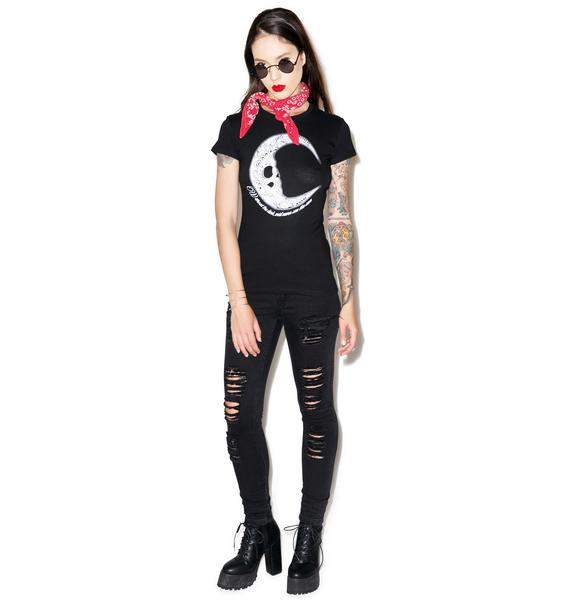 Too Fast Moon Baby Doll Tee