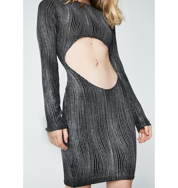The Madonna Label Sparkly Striped Dress