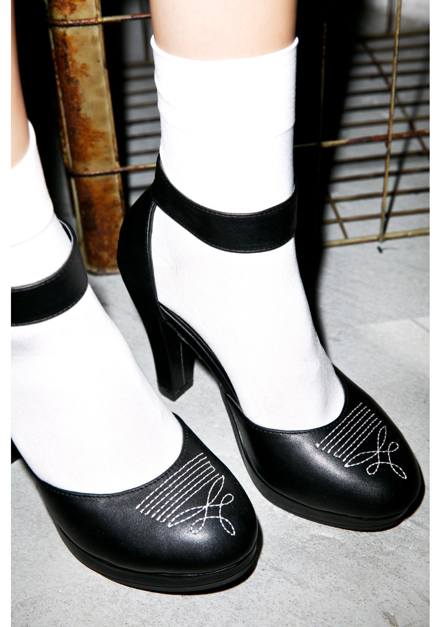 T.U.K. Western Starlet Heels