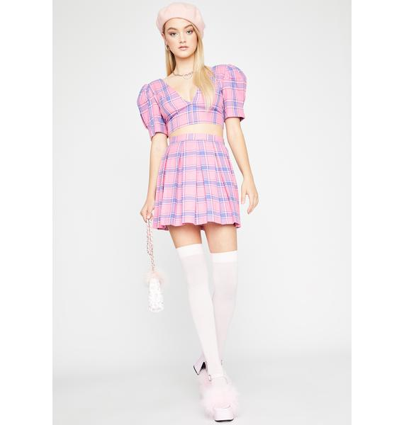 Sugar Thrillz The New Girl Plaid Skirt