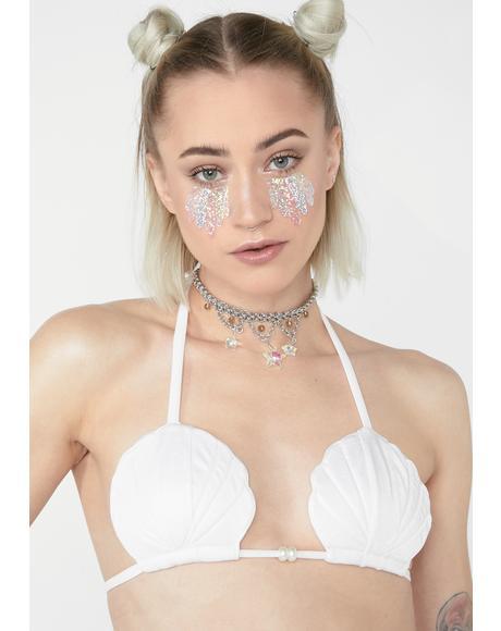 Quartz Seashell Bikini Top