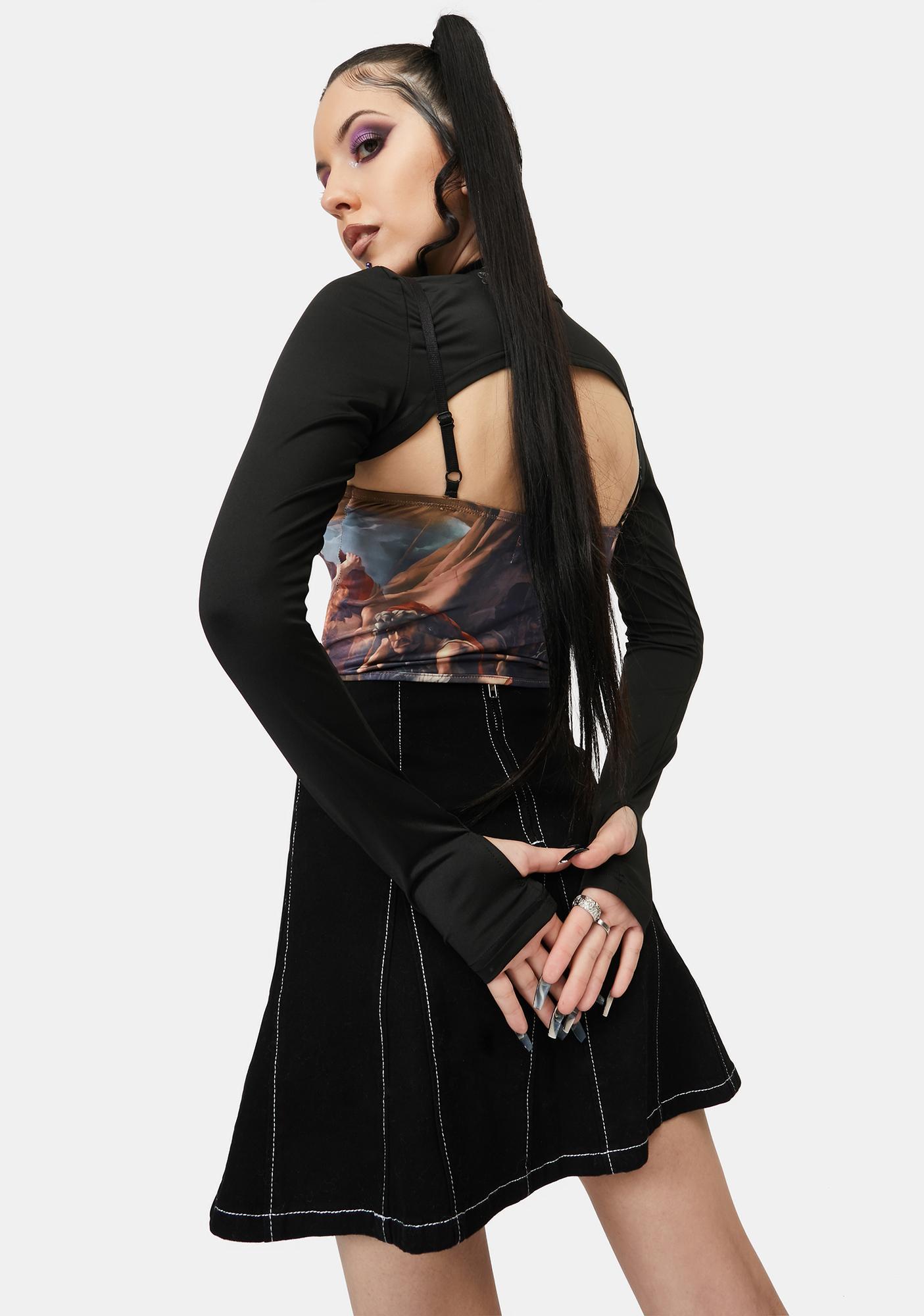ZEMETA Mystic Corset Long Sleeve Top