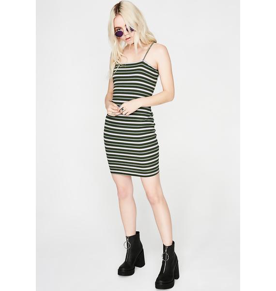 Stripe Down Mini Dress