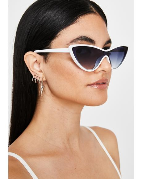 Icy Hamptons Hangover Cat Eye Sunglasses