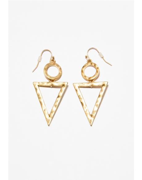 In My Element Triangle Earrings
