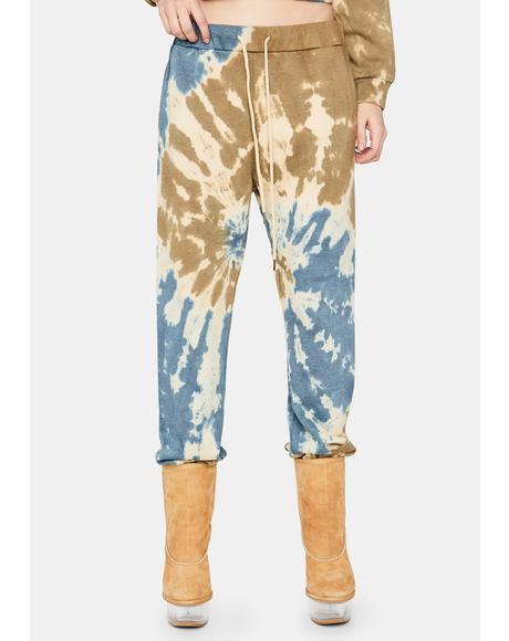 Hope You're Happy Tie Dye Sweatpants