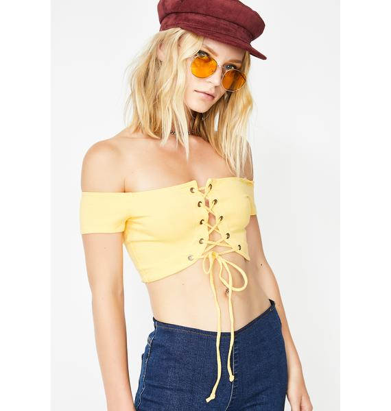 Hawt Chick Lace-Up Top