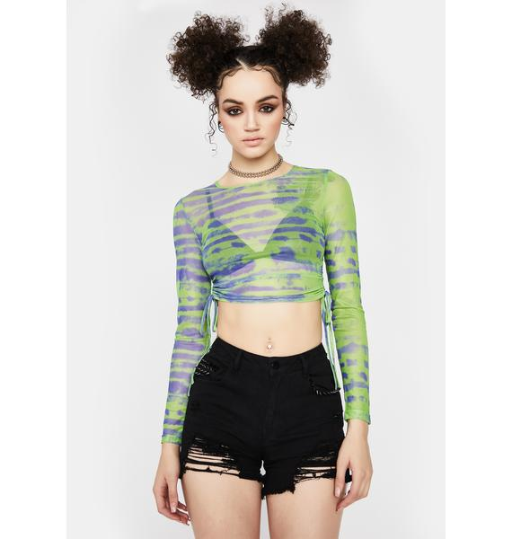 Lime Tough Competition Ruched Top