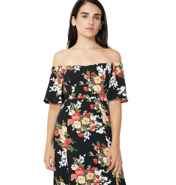 Flower Fields Off-Shoulder Dress