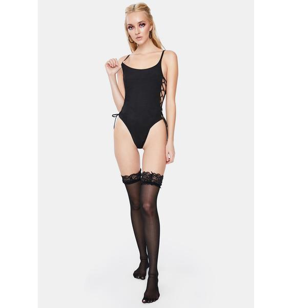 OW INTIMATES Angelina Lace-Up Bodysuit