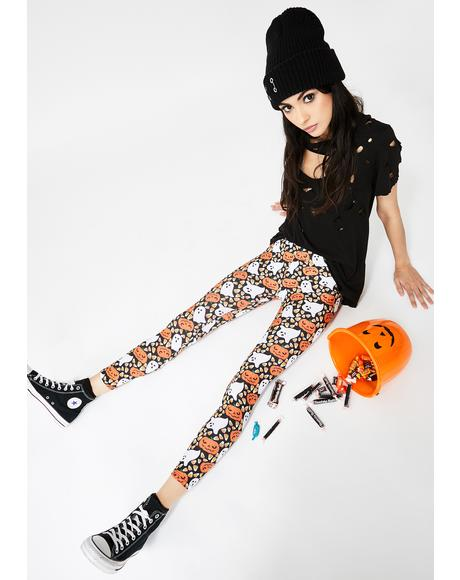 Delightful Fright Candy Corn Leggings